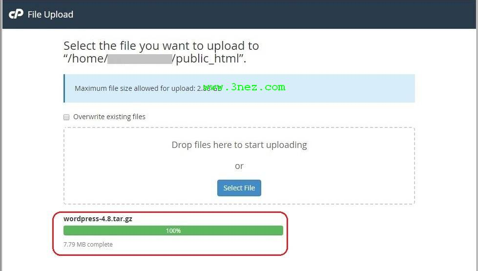 Upload WordPress Software