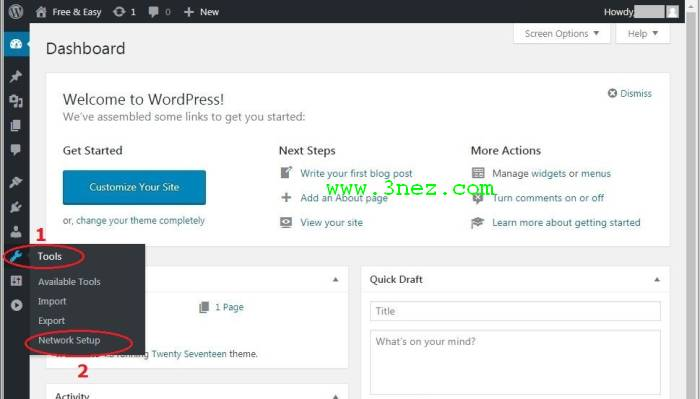 WordPress Control Panel